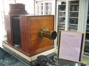 1850年前英国罗斯Ross风琴式湿版相机.镀金头.楠木底座.无光圈级